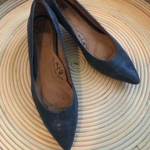 Sofft High Heels size 8.5 dark blue/grey